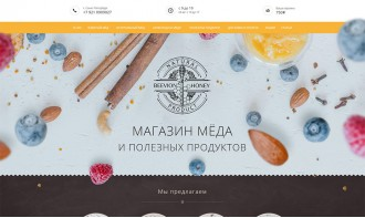 Создание интернет-магазина мёда и полезных продуктов
